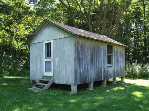 "The shed in Niantic, Connecticut, where William Zinsser wrote ""On Writing Well"" in the summer of 1974"