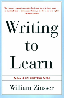 Writing to Learn Jacket Cover